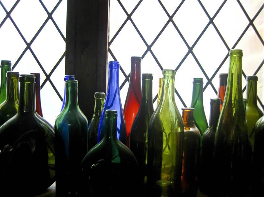 Bottles of alcohol