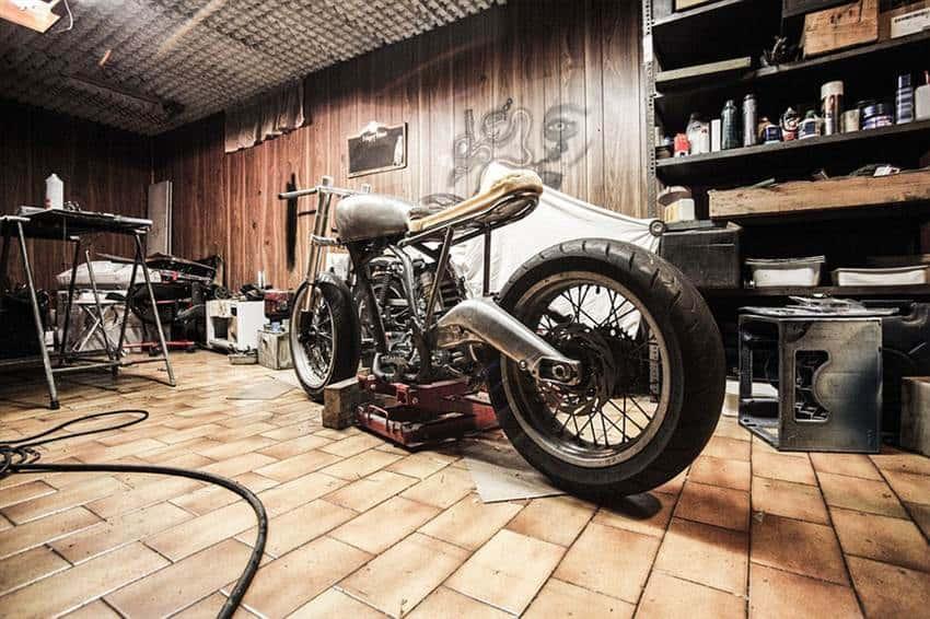Man cave in a garage