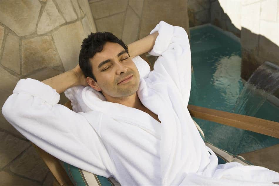 Man relaxing in silence